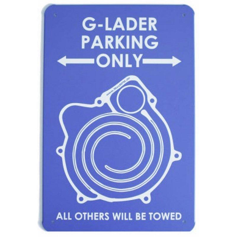 g lader parking only nostalgic metal shield exclusive. Black Bedroom Furniture Sets. Home Design Ideas