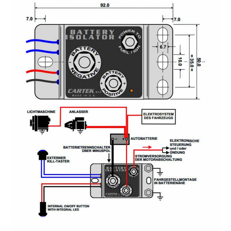 Battery Hook Up : Battery isolator wiring tamahuproject