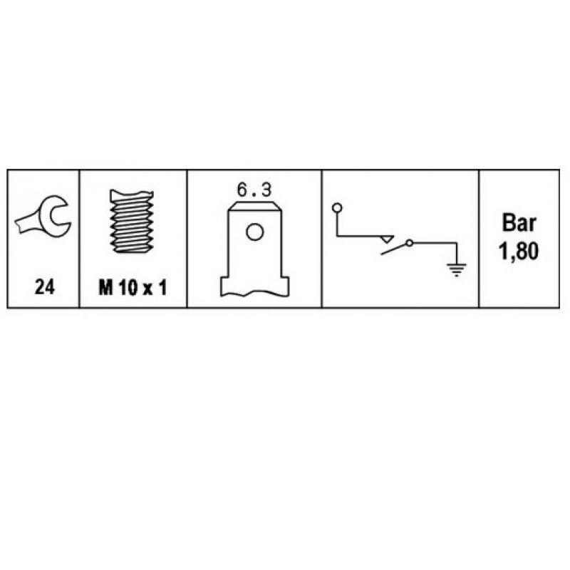 ldruckschalter wei 1 6 2 0 bar f r zahlreiche. Black Bedroom Furniture Sets. Home Design Ideas