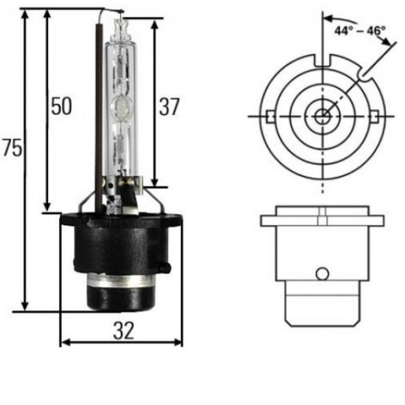 Glühlampe, Gasentladungslampe, Xenon-Lampe, Hauptscheinwerfer (Hella 8GS 007 949-101)