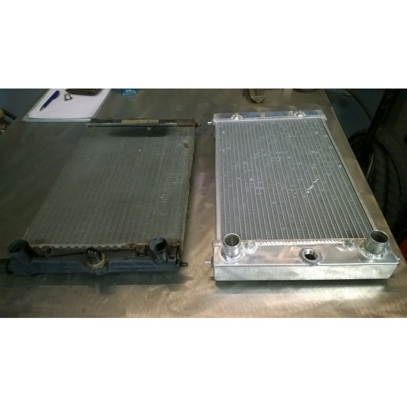 Radiator for Polo G40 MK3 (86C) for G60- & turbo conversions with higher cooling capacity - Made of aluminum