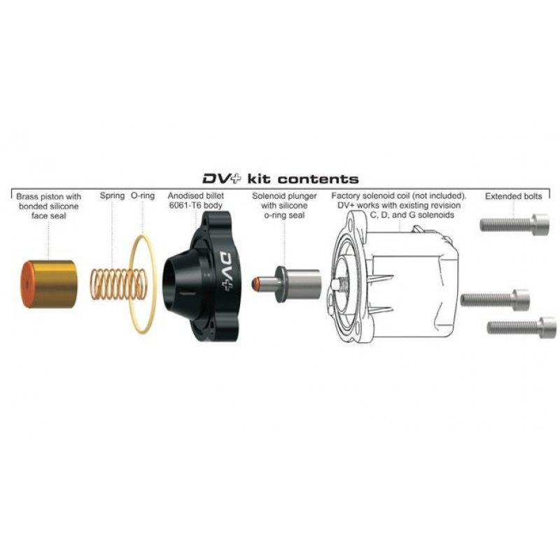 Small Plastic Turbocharger: GFB DV+ T9351 For VAG 2,0 TFSI / Replaces The Original