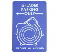 G-Lader Parking only - Nostalgie-Blechschild - Exklusiv...