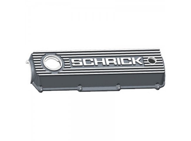 Aluminium cylinder head cover / valve cover (original Schrick) for all VW 8V engines (Golf MK1, Golf MK2) with cooling fins (Schrick 0014 11 200-00)