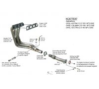 TeZet stainless steel exhaust header for Vectra A (1994 /...