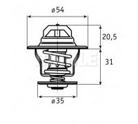 RS Thermostat, coolant, 71°C, e.g. for G40 & G60 engines...