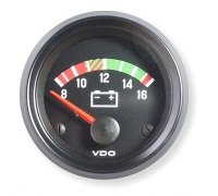 VDO Cockpit International Voltmeter 8V bis 12V, 52mm...