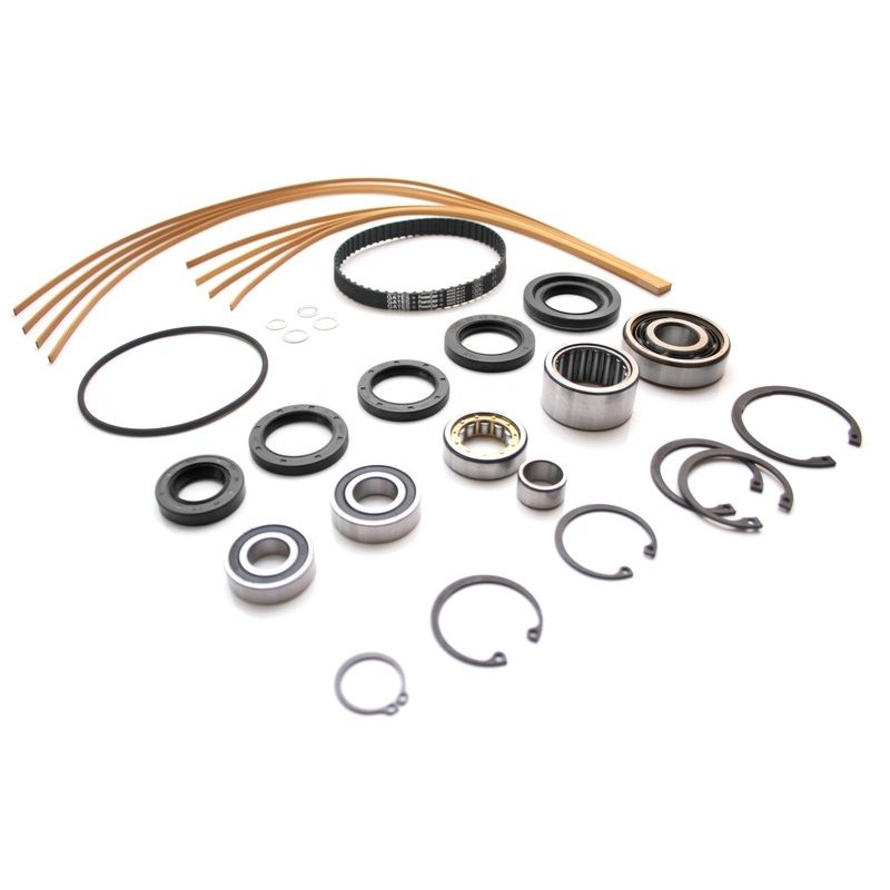 Large Servicekit for G60-Supercharger (incl. beige sealstrips + oil seal rings + set of bearings + wide toothed belt + small items)