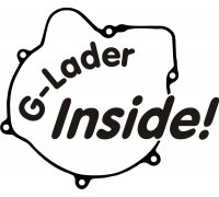 G-Lader Inside - Outline from sticker (available in different colors) Black