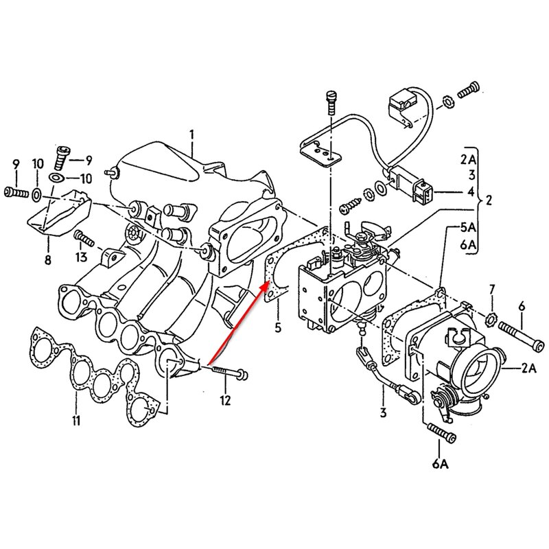Vw Throttle Seal Between Throttle Valve Intake Manifold For Gol