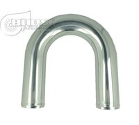 Aluminium elbow 180° with 63mm diameter, Mandrel bent, polished