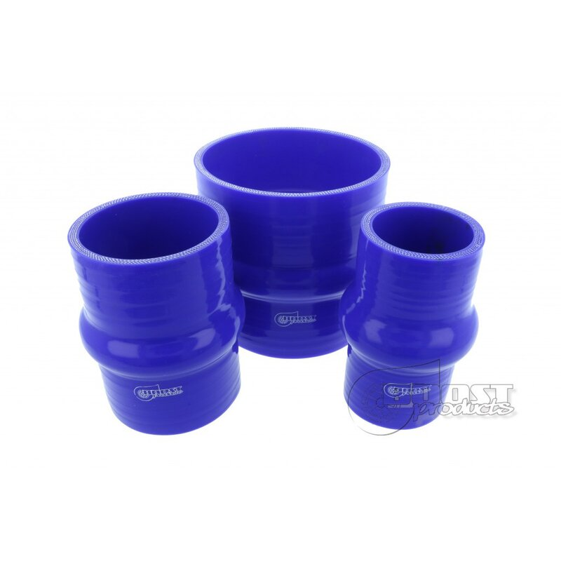 BOOST products Silicone Connector with single Hump, 63mm, blue