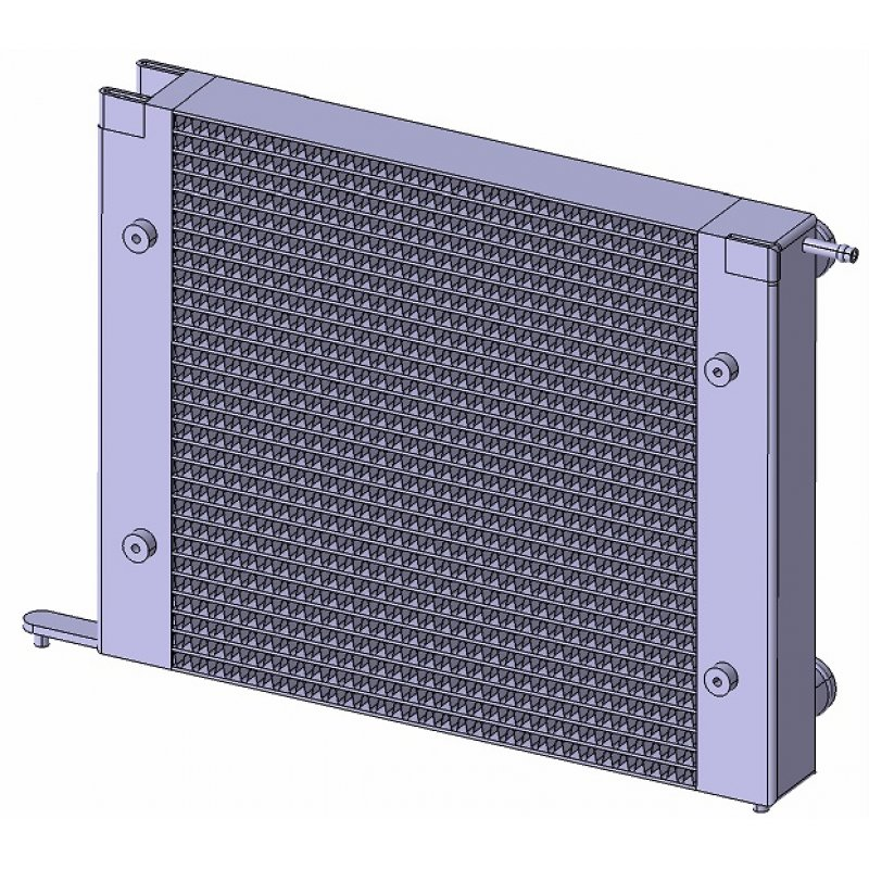Radiator *short* for Polo G40 MK3 (86C) for conversions to G60, with higher cooling capacity - Made of aluminum (for year 1986-1989)