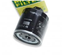 Filter, oil filter W712/52 (e.g. for Polo G40)