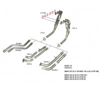 TeZet stainless steel exhaust header for VW Passat VR6