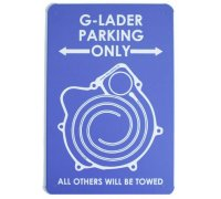G-Lader Parking only - Nostalgic metal shield - Exclusive only from MaxRPM!