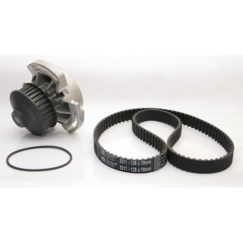 Time belt + water pump, Gates PowerGrip Kit KP15311 (e.g. for VW Polo G40, from year 08/1990 - 08/1994)