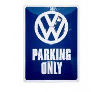 Metal plate VW Parking Only 30 x 40 cm